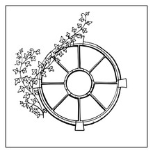 Round Window Ivy Branch Graph...