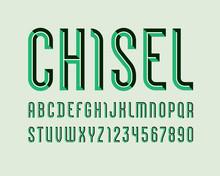 Alphabet From Chiseled Block, ...