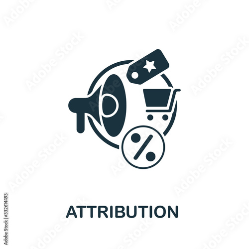 Photo Attribution icon from affiliate marketing collection