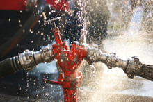 Water Splashes From The Fire H...