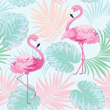 Cute Flamingo Vector Illustrat...