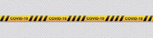 Warning COVID-19 Yellow And Bl...