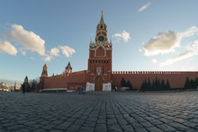 Fish-Eye. Red Square At Spring...
