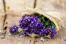 Bunch Of Lavender Flowers On O...