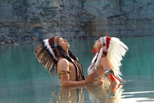 A Young Native American Indian...