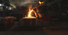 Smelting Metal In A Metallurgi...