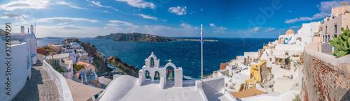 Fototapeta Oia town cityscape at Santorini island in Greece obraz