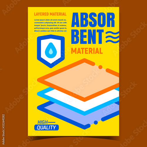 Absorbent Material Promo Advertising Poster Vector Canvas Print