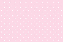 Polka Dot Seamless Pattern. White Dots On Pink Background.