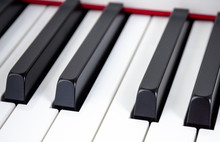 Close-up Of Piano Keys. Close ...