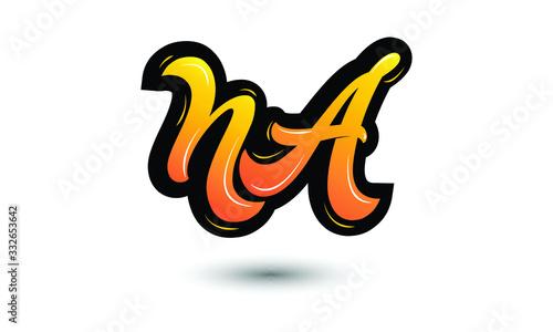 Photographie NA company linked letter logo