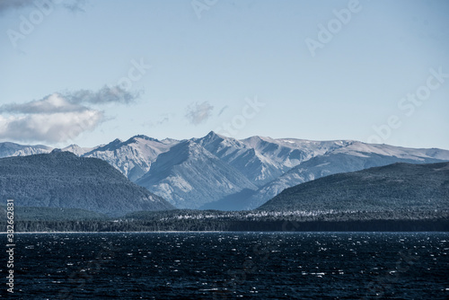 Photo Distant Patagonia Mountains in Bariloche, Argentina