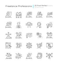 Freelance Professions Pixel Pe...