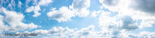 gorgeous panorama of cloudscape in springtime Canvas Print