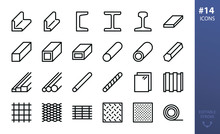 Rolled Steel Vector Icons Set....