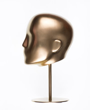 Golden Mannequin Head Isolated...
