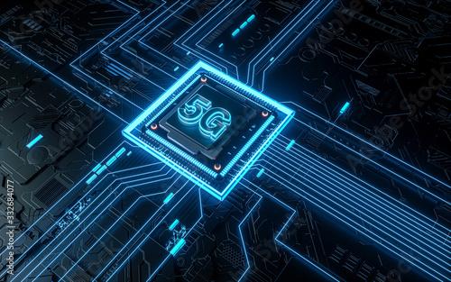 Cuadros en Lienzo Technology chip
