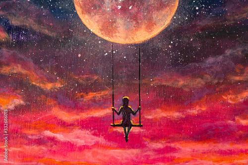 Photo Oil painting fantasy art