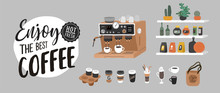 Coffee Shop Hand Drawn Collect...