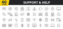 Set Of 40 Support And Help Web...