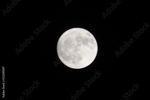 Moon Over Oklahoma on a Cool Autumn Evening Canvas Print