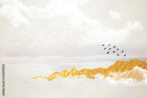 Modern digital art of Chinese landscape painting