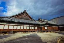 Nice View To The Japanese Styled Building In The Nijo Castle, Japan