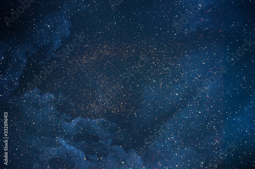 Night sky with stars Wallpaper Mural