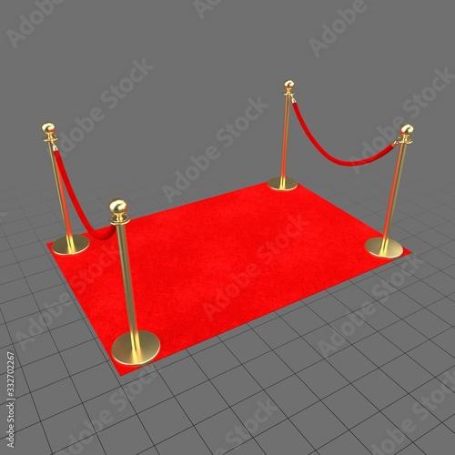 Obraz Red carpet barrier - fototapety do salonu