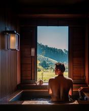 Onsen Wooden Bath Tub,man Enjo...