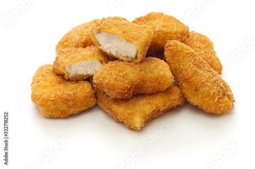 Fototapeta homemade chicken nuggets isolated on white background obraz
