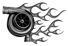 Vector Illustration Turbo Char...