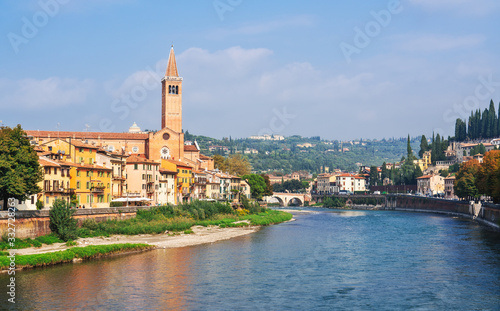 View of Verona and Adige River, Italy Canvas Print