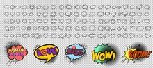 Comic Style Speech Bubbles Col...