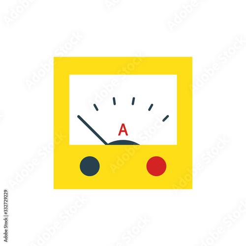 ammeter flat icon, vector illustration Canvas Print