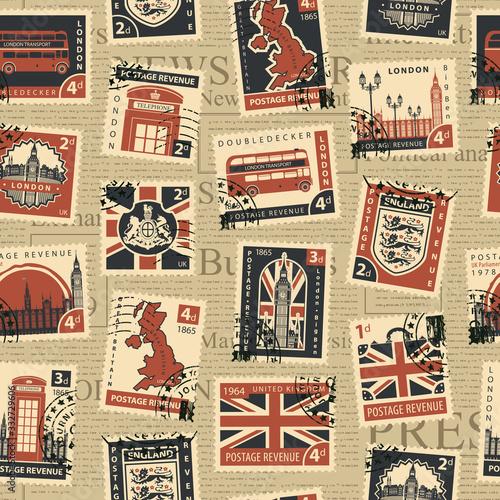 Tapety Angielskie  wektor-wzor-na-temat-wielkiej-brytanii-i-londynu-ze-znaczkami-pocztowymi-i-stemplami-pocztowymi-na-tle-gazety-w-stylu-retro-nadaje-sie-do-tapet-papieru-do-pakowania-lub-tkaniny
