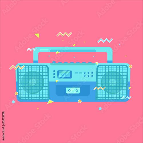 80's retro vintage radio vector Canvas Print