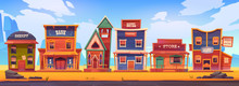 Western Town With Old Wooden B...