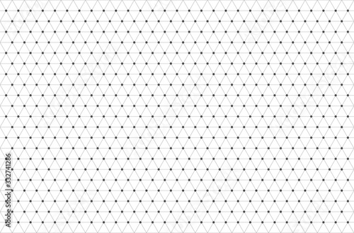grey hexagon shape grid and line background Fototapet