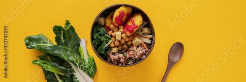 Fototapeta Delicious and nutritious vegan meal obraz