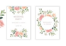 Wedding Cards Design. Blush Pi...