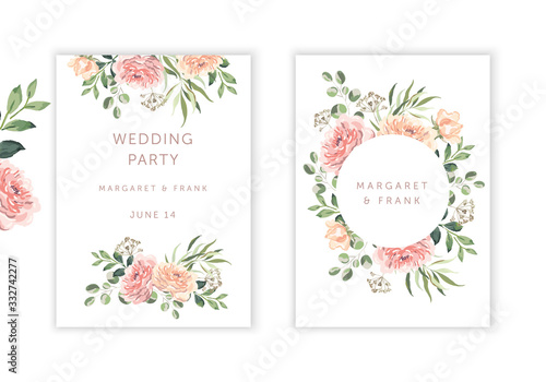 Valokuva Wedding cards design
