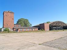 Office Buildings And Hangar At The Old German Airfield Noitif. Baltiysk, Kaliningrad Region