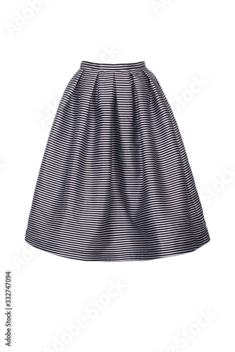 Beautiful striped mini skirt isolated. Wallpaper Mural