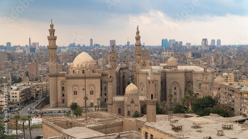Aerial view of the old part of Cairo Canvas Print