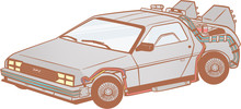 Back To The Future DeLorean Cu...