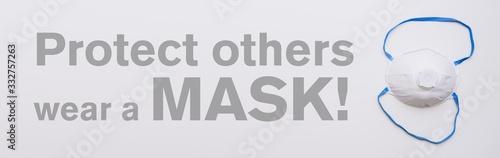 Obraz Anti virus protection mask ffp3 standart to prevent corona COVID-19 infection - fototapety do salonu