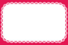Cute Lace Horizontal Banner Doily Background