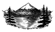 Mount Fuji. Volcano In Japan. ...