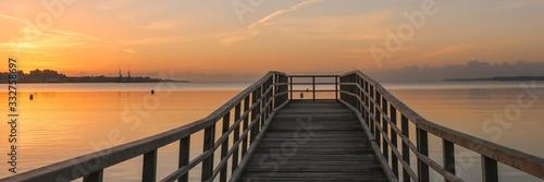 Obraz romantic sea bridge image, panorama, wallpaper - fototapety do salonu